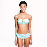 Sailor-stripe lace-up bandeau top - patterns & prints - Women - J.Crew