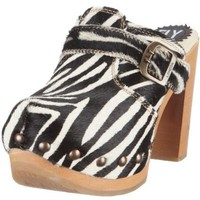 FLY London Women`s Suse High Heeled Clog,Zebra Sublime,37 EU/6 M US