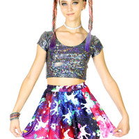 UNICORNS IN SPACE SKATER SKIRT