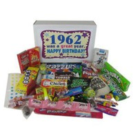 '60s Retro Candy Decade 50th Birthday Gift Box Jr. - Nostalgic Candy: 1962