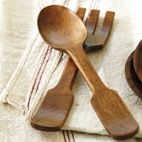 Vintage Wood Serving Set