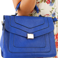 Let's Hang Out Purse: Royal Blue