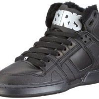 Osiris Men`s NYC 83 SHR Skate Shoe,Black/3M/Sherling Synthetic leather,9 M US