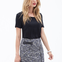 Boucle Zipper Skirt