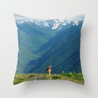 Nature's Calling Throw Pillow by RDelean
