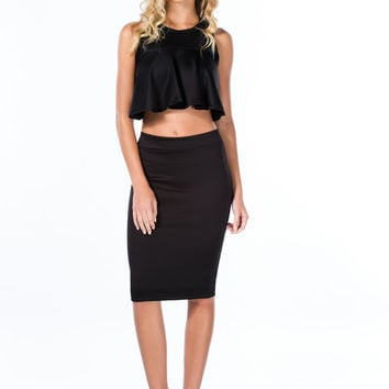 Step It Up Solid Pencil Skirt