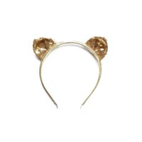 Gold sparkly cat ear headband - Minou Kids