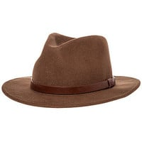 The Messer Fedora in Khaki & Brown