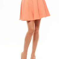 Zip Me Skater Skirt - Peach | Fashion Nova