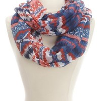 Abstract Tribal Print Infinity Scarf by Charlotte Russe - Multi