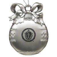 University of Massachusetts - Amherst - Pewter Christmas Tree Ornament - Silver