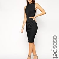 ASOS PETITE Exclusive Twist Cut Out Side Body-Conscious Dress