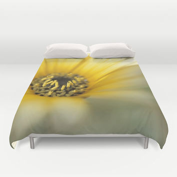 Mom's Yellow Daisy Duvet Cover by Bruce Stanfield Photographer