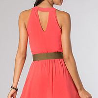 Short Belted Casual Summer Dress