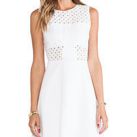 Rebecca Taylor A-Line Eyelet Dress in White
