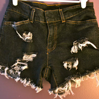 Distressed denim short's by FashionDose on Etsy