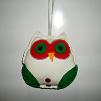 Ned the Christmas Owl Home Decor