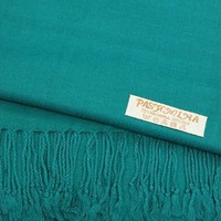 "Gift Packaged ""Olive N Figs"" Solid Plain Pashmina Stole/Scarf/Wrap with a Complimentary Gift - 25 Vibrant Colors"