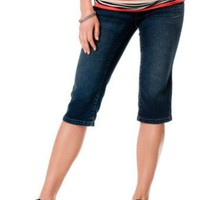 Motherhood Maternity: American Star Secret Fit Belly(tm) Stitch Detail Maternity Capri Jeans
