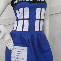 POLICE BOX dress S-1X & Cosplay TARDIS inspired Doctor Dr Costume Who | eBay