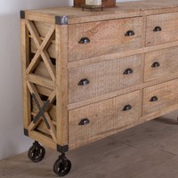 Agra Reclaimed wood 6 Drawer Dresser - Bedroom