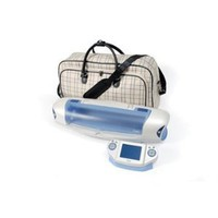 Sizzix eclips Carry-All Tote, Black, Cream and Periwinkle Plaid