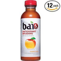 Bai5, 5 calorie Panama Peach, 100% Natural, Antioxidant Infused Beverage, 18-Ounce Bottles (Pack of 12)