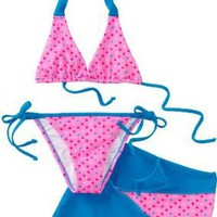 Sweet Lola Girls 2-6x Cotton Candy 3 Piece Bikini Set