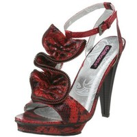 Dollhouse Women`s Rifa Sandal,Red,8 US
