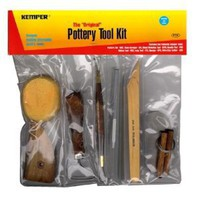 Potter's Tool Kit Has All The Essential Tools For Cleaning, Trimming And Shaping Your Pottery Creation