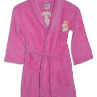 Sweet n Sassy - Toddler Girls Microfiber Peace Sign Robe (Available in Fuschia and Yellow)