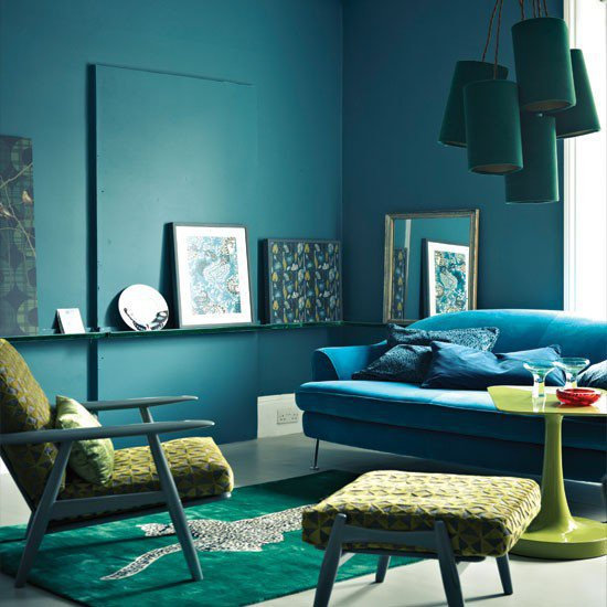 Midnight Blue Living Room Living Room From