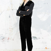 Little White Lies Bebe Velvet Jumpsuit in Black - Urban Outfitters