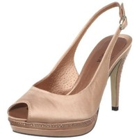 Menbur Women`s Chasserian Peep-Toe Pump,Nude,39 EU/9 M US