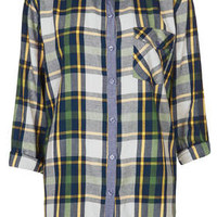 Oversized Check Shirt - Multi