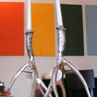 Imported Polished Antler Candlestick Holders | Tigertree Polished Antler Candlestick Holders