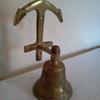 Solid Brass Bell for Door by KeepsakeVintage on Etsy