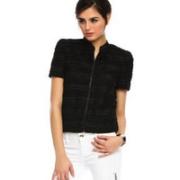 Armani Exchange Tiered Short Sleeve Jacket