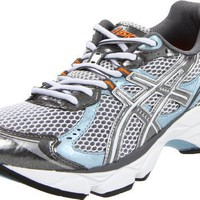 ASICS Women`s Gel-Turbulent 2 Running Shoe,White/Titanium/Ice Blue,8 M US