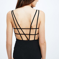 Staring at Stars Criss-Cross Back Body in Black - Urban Outfitters