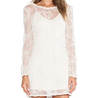 Ladakh Cornelli Lace Dress in Ivory