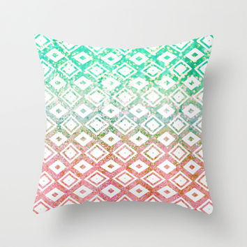 Diamond Rain Merge Throw Pillow by Lisa Argyropoulos | Society6