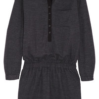 Burberry Brit | Georgette-paneled wool-blend jersey mini dress | NET-A-PORTER.COM