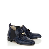 Ink Embossed Leather and Suede Loafers | Metric | Autumn Winter 14 | JIMMY CHOO Shoes