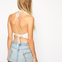 ASOS Halter Top In Crochet