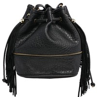 New Look Fringed Mini Duffle Bag