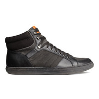H&M - Canvas High Tops - Black - Men