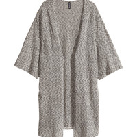 H&M - Melange Cardigan - Black - Ladies