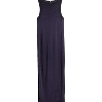 H&M - Slub Jersey Dress - Dark purple melange - Ladies