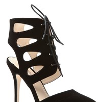 Black Lace Up Single Sole Pointed Heels @ Cicihot Heel Shoes online store sales:Stiletto Heel Shoes,High Heel Pumps,Womens High Heel Shoes,Prom Shoes,Summer Shoes,Spring Shoes,Spool Heel,Womens Dress Shoes